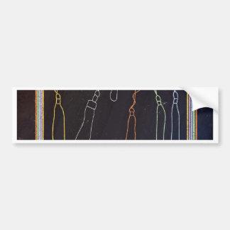Colorful Tassels in Frame, Chalkboard Bumper Sticker