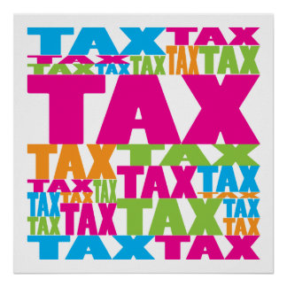 Colorful Tax Poster