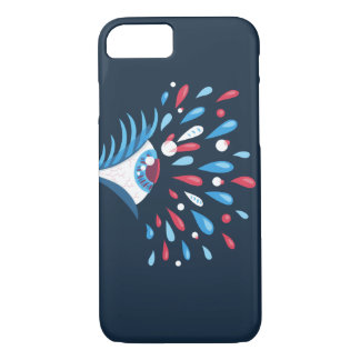 Colorful Tears Psychedelic Eye iPhone 8/7 Case