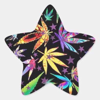 Colorful teenage star sticker