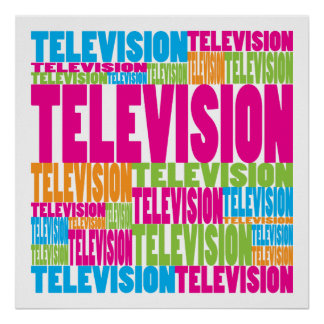 Colorful Television Poster