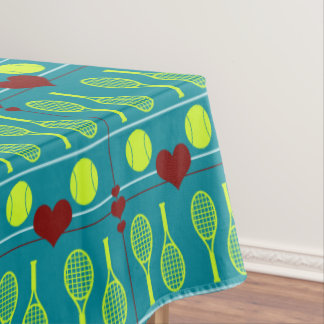 Colorful tennis pattern tablecloth