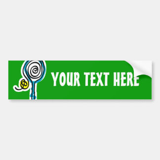 Colorful Tennis Spiral Rope Bumper Sticker