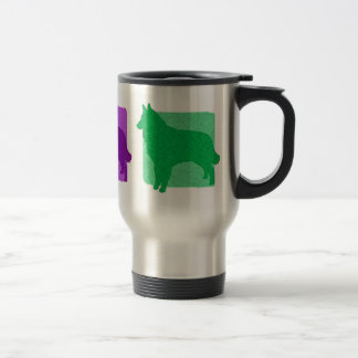 Colorful Tervuren Silhouettes Travel Mug