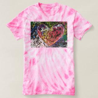 Colorful texture Heart tie dye shirt