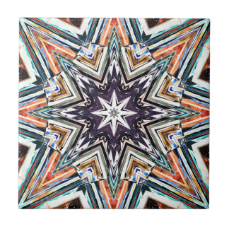 Colorful Textured Star Tile