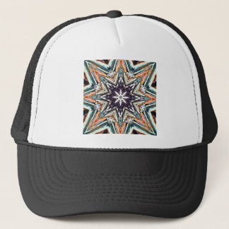 Colorful Textured Star Trucker Hat