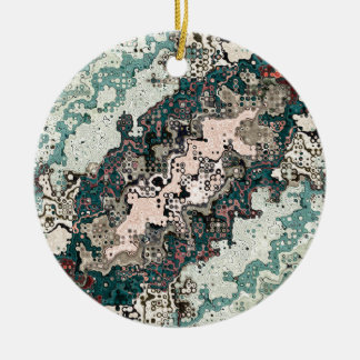 Colorful Textures Pattern 1 Ceramic Ornament