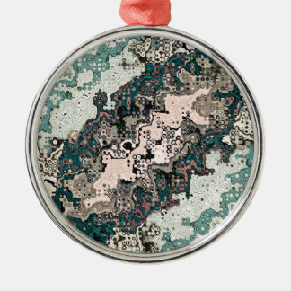 Colorful Textures Pattern 1 Metal Ornament