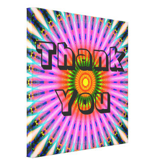 Colorful Thank You Canvas Print