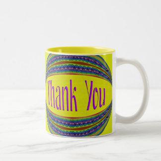 Colorful Thank You Two-Tone Coffee Mug