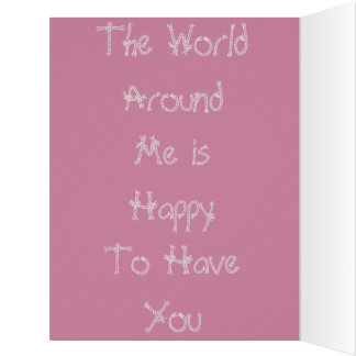 Colorful The World Around me Happy Birthday Colors Big Greeting Card