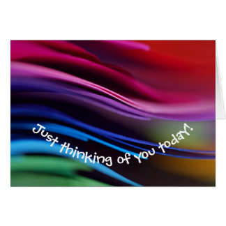 Colorful Thinking of You Note Card
