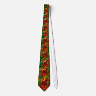 Colorful Thoroughbred in Typography Tie