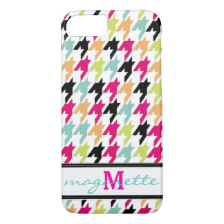 Colorful Thousand Birds Houndstooth Monogram iPhone 7 Case