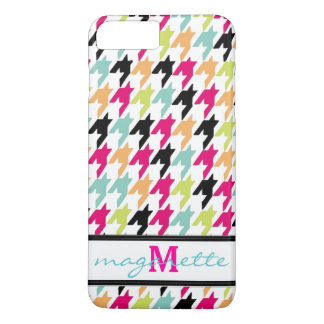 Colorful Thousand Birds Houndstooth Monogram iPhone 7 Plus Case