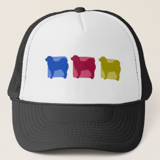 Colorful Tibetan Mastiff Silhouettes Trucker Hat