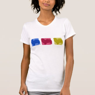 Colorful Tibetan Spaniel Silhouettes T-Shirt