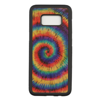 Colorful Tie Dye Pattern Carved Samsung Galaxy S8 Case