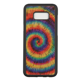 Colorful Tie Dye Pattern Carved Samsung Galaxy S8+ Case