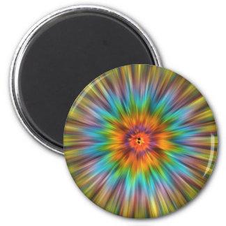 Colorful Tie Dye Starburst Magnet