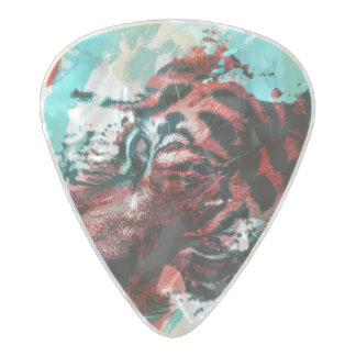 Colorful Tiger Animal Pearl Celluloid Guitar Pick
