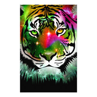 Colorful Tiger Animal Stationery