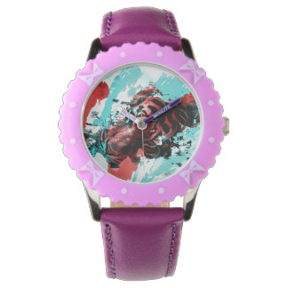 Colorful Tiger Animal Wristwatches