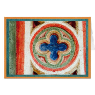 Colorful tile work from Toledo, Spain Card
