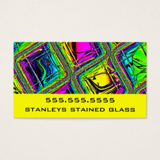Colorful Tiled Stained Glass Look Business Card
