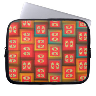 Colorful tiles laptop sleeve