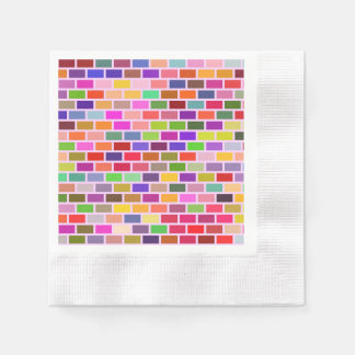 Colorful tiles paper napkin