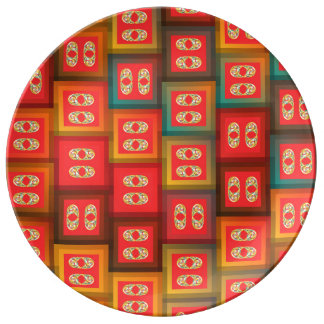 Colorful tiles plate