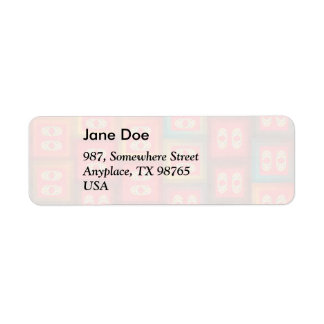 Colorful tiles return address label