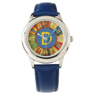 COLORFUL TIME BLUE YELLOW MONOGRAM WATCH