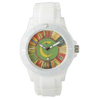 COLORFUL TIME GREEN YELLOW MONOGRAM WATCH