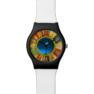 COLORFUL TIME WITH PRINTED BLUE SAPPHIRE GEMSTONE WATCH