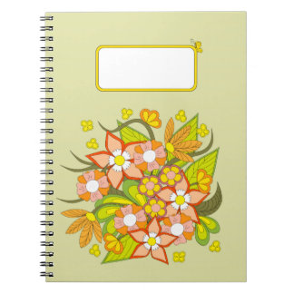 colorful to summer bouquet notebook