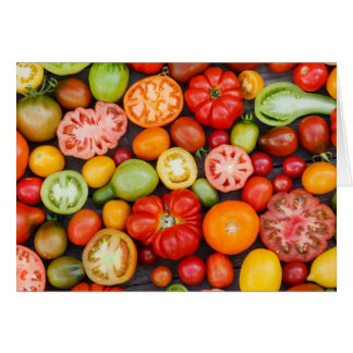 Colorful Tomatoes Card