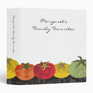 colorful tomatoes cookbook recipe binder