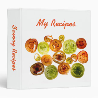 Colorful tomatoes vinyl binders