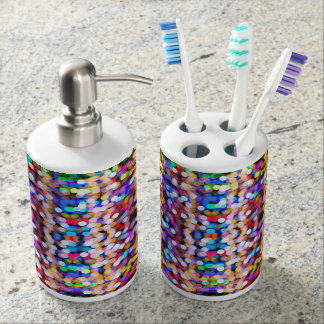 Colorful tooth brush holder set