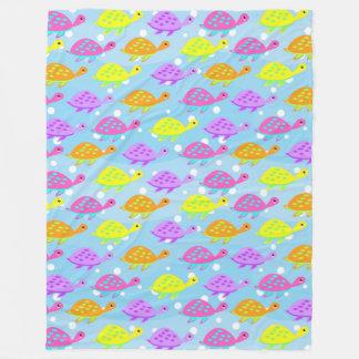 Colorful Tortoise Pattern Fleece Blanket