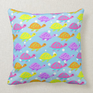 Colorful Tortoise pattern Throw Pillow