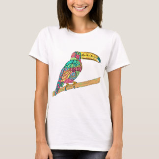 Colorful Toucan bird tropical teal mauve yellow T-Shirt