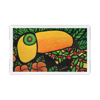 Colorful Toucan Tropical Bird Acrylic Tray