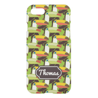 Colorful Toucans | Add Your Name iPhone 7 Case