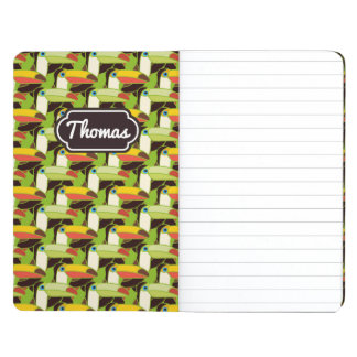 Colorful Toucans | Add Your Name Journal