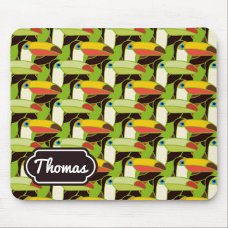 Colorful Toucans | Add Your Name Mouse Pad