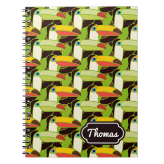 Colorful Toucans | Add Your Name Notebook